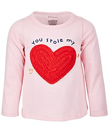 Toddler Girls Stole My Heart Long-Sleeve Cotton Top, Created for Macy's