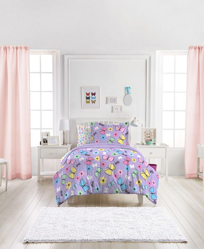 Dream Factory - Sweet Butterfly Twin Comforter Set
