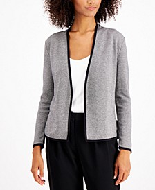 Petite Birdseye Blazer Sweater, Created for Macy's