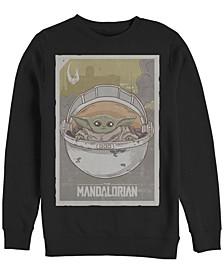 Men's Star Wars Mandalorian Baby Crew Fleece Pullover T-shirt