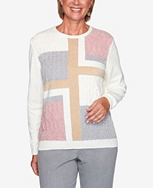 Women's Plus Size Classics Patchwork Sweater