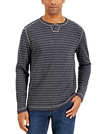 Men's San Salvator Reversible Stripe Split-Neck Sweatshirt