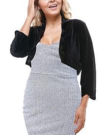 Plus Size Scalloped-Edge Bolero Jacket