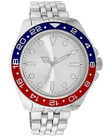 INC Men's Dive Silver-Tone Bracelet Watch 50mm, Created for Macy's