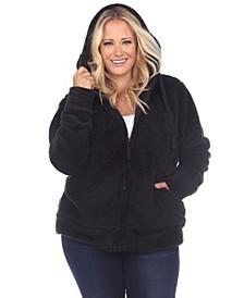 Women's Plus Size Sherpa Jacket