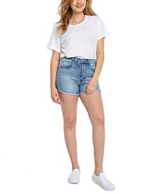 Juniors' High-Rise Cut-Off Denim Shorts