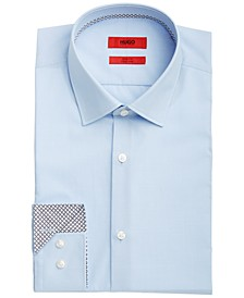 HUGO Men's Koey Slim-Fit Mini-Check Dress Shirt