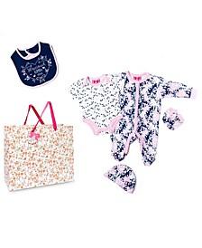 Baby Girls Precious Little One Footie 5 Piece Layette Gift Set