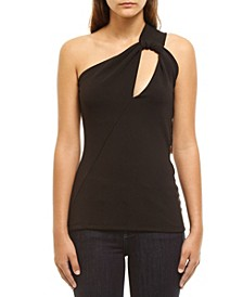 Women's Fitted One-Shoulder Cutout Top