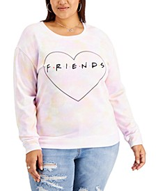 Trendy Plus Size Friends Heart Sweatshirt