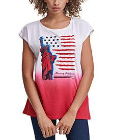 Tommy Hilfiger Cotton Short-Sleeve Graphic Logo T-Shirt