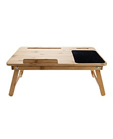 Bamboo Bed Tray Adjustable Lap Desk