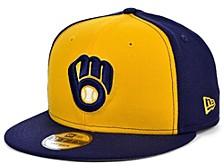 Milwaukee Brewers 2 Tone Link 9FIFTY Snapback Cap