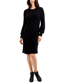 Cable-Knit Sweater Dress, Created for Macy's