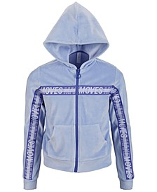 Big Girls Velour Taped Zip-Up Hoodie, Created for Macy's