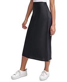 Pull-On Midi Skirt