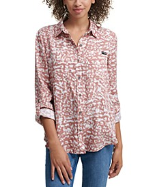 Abstract Button Down Shirt