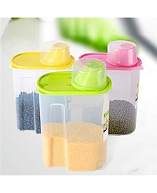 Vintiquewise Large Bpa-Free Plastic Food Saver, Kitchen Food Cereal Storage Containers with Graduated Cap, Set of 3
