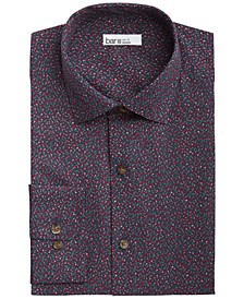 Men's Slim-Fit Performance Stretch Tossed Floral-Print Dress Shirt, Created for Macy's