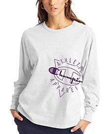 Champion Women's The Boyfriend Logo Long-Sleeve T-Shirt
