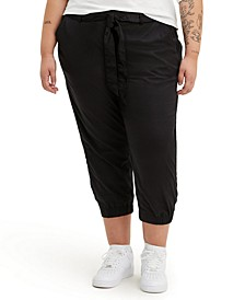 Trendy Plus Size Belted Jet Set Joggers