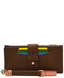 Women's Willa Slim Tab Leather Wristlet
