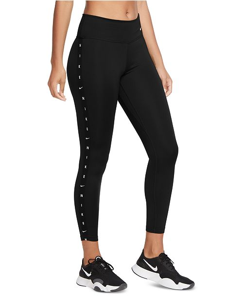 Nike Women S One Dri Fit Logo Leggings Reviews Women Macy S Cropped style leggings with elastic waist and nike pro written on the band. nike