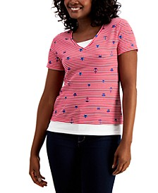 Petite Sailor T-Shirt, Created for Macy's
