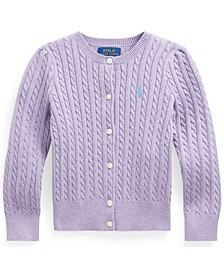 Polo Little Girl Cable-Knit Cotton Cardigan