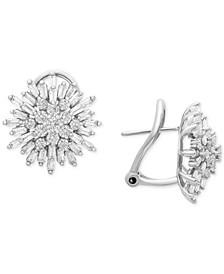 Diamond Starburst Earrings (1-1/2 ct. t.w.) in 14k White Gold, Created for Macy's