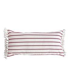 """Home Thatch Home Joybirds Stripe Tassel 30"""" X 14"""" Pillow"""
