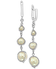 EFFY® Cultured Freshwater Pearl (4mm-8-1/2mm) Drop Earrings in Sterling Silver