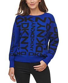 Exploded Logo Pullover Sweater