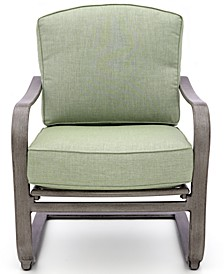Tara Wide Slat C-Spring Chair with Sunbrella® Cushions, Created for Macy's