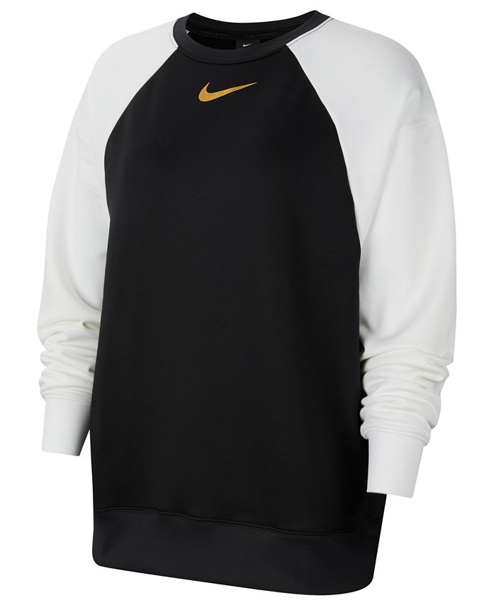 Nike - Plus Size Therma Colorblocked Crewneck Top