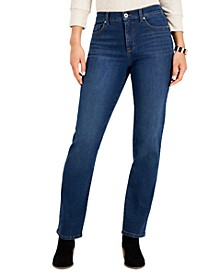 Petite Straight-Leg Jeans, Created for Macy's