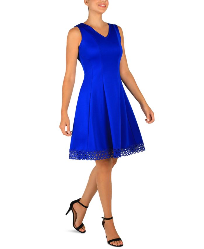 Donna Ricco Lace-Hem Fit & Flare Dress & Reviews - Dresses - Women - Macy's