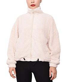 Juniors' Faux-Sherpa Jacket