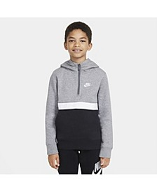 Big Boys Sportswear Club 1/2-Zip Hoodie