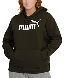 Plus Size Fleece Logo Hooded Sweatshirt