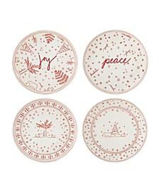 """Crafted By Royal Doulton® Holiday Accent Plate 8"""" Set/4"""