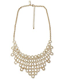 "INC Gold-Tone Crystal Chain Link Statement Necklace, 18"" + 3"" extender, Created for Macy's"