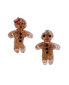 Festive Gingerbread Mismatched Stud Earrings