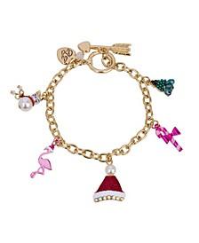 Festive Flamingo Mixed Charm Bracelet