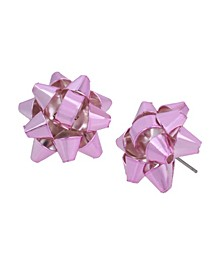 Festive Bow Button Earrings