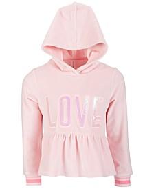 Little Girls Velour Peplum Hoodie, Created for Macy's