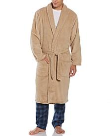 Perry Ellis Men's Plush Banded Robe