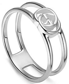 Interlocking G Openwork Statement Ring in Sterling Silver