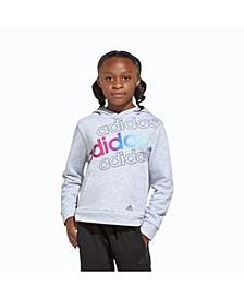 Big Girls Tie Dye Logo Fleece Pullover Hoodie