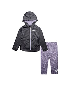 Toddler Girls Therma Full-Zip Hoodie and Leggings Set